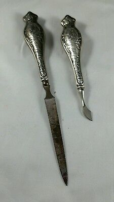 Antique Sterling Silver Nail File and Cuticle Cutter for your Dressing Table