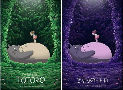MY NEIGHBOR TOTORO limited edition prints x2 KEVIN M WILSON APE MEETS GIRL R17