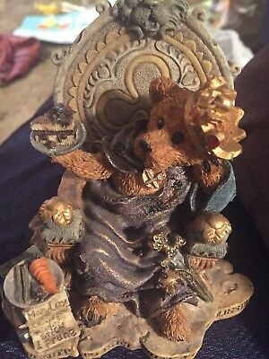 Boyds Bears Bearstone PRINCE HAMALOT TO DIET OR NOT TO DIET