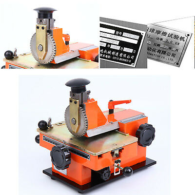 4mm Semi-automatic Sheet Embosser Metal Stamping Printer Marking Machine Label