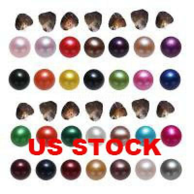 US STOCK 7-8mm 25PC Random Color Freshwater Cultured Love Wish Pearl Oyster Gift