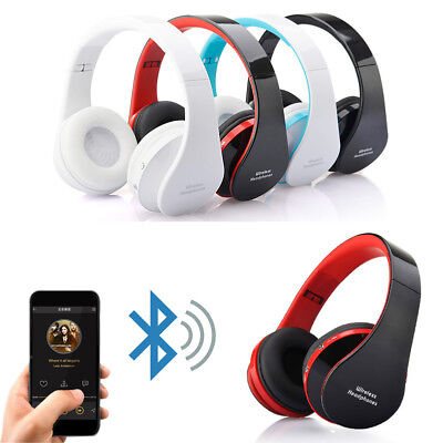 Foldable Bluetooth Wireless Stereo Mic Headset Headphones For iPhone Samsung CY