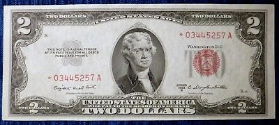 1953 B ~ $2 United States STAR NOTE  *03445257A ~ Crisp Uncirculated F-1511*