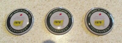 3 only GARY PLAYER  US MASTERS TRIBUTE GOLF BALL MARKERS 1961/74/78