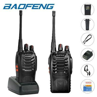 2x Baofeng BF-888S Two Way Radio Rechargeable 2800 mAh Walkie Talkie