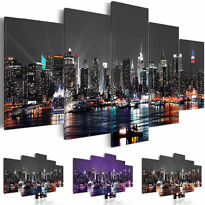 Home Decor Canvas Print Painting Wall Art HD New York City Cityscape Poster 5Pcs