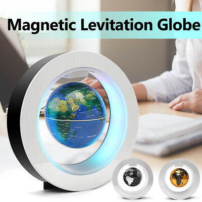 AU 4'' LED Magnetic Levitation Anti-Gravity Floating Globe Student School Gift