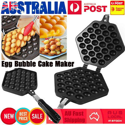 Bubble Egg Cake Maker Oven Waffle Pan Kitchen Baker Machine Non-Stick Household