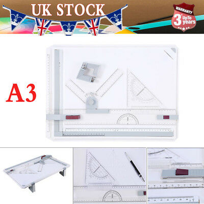 White A3 DRAWING BOARD ART ARCHITECTURE PARALLEL MOTION ADJUSTABLE ANGLE