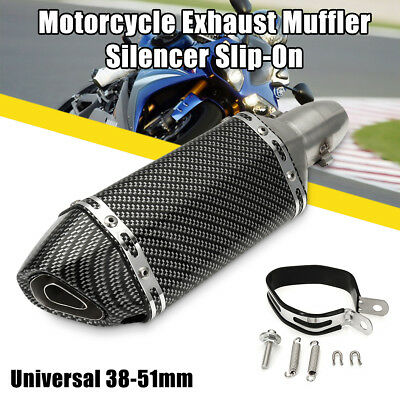 Universal Motorcycle Exhaust Muffler Pipe Removable DB Killer Slip on 38-51mm AU
