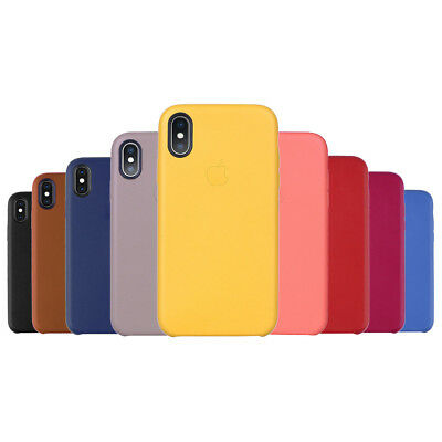 2018 iphone XS/MAX/XR High Quality Shockproof Genuine Leather Cover Case