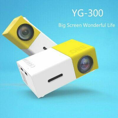 YG300 Portable MINI LED 1080P HD Projector Home Cinema Theater AV USB SD HDMI AU