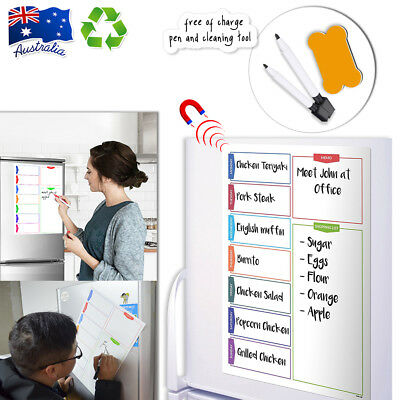 Hi-Q A3 Magnetic Whiteboard Family Office School Weekly Planner List + 3 Gift OZ