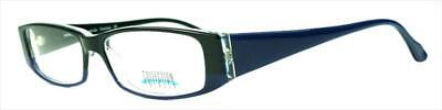 9x Brille Collection Creativ Brillengestell Mod 245 Col 370 schwarz/blau