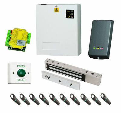 Supply & Fit Paxton Switch 2 Access Control Kit w/ 10 Proximity Fobs PSU Maglock