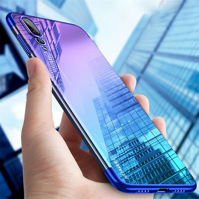 For Huawei P30 P20 P10 P9 P8 Lite 2017 Clear Plating Silicone Hybrid Case Cove