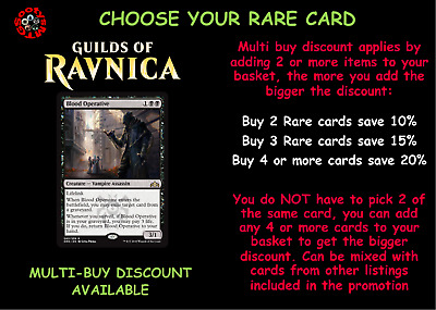 MTG Guilds of Ravnica GRN Choose your Rare card - IN STOCK - Buy 2 save 10%