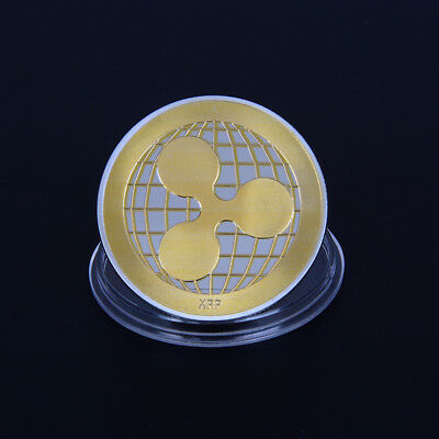 gold silver plated ripplecoin crypto commemorative ripple collector coin giftHGU