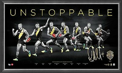 Dustin Martin Signed Richmond Afl Brownlow Print Framed - 2017 Brownlow Winner