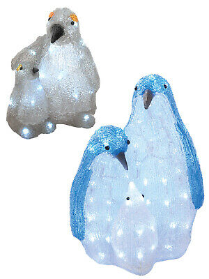 Pre-Lit Acrylic Penguin Christmas Decoration Outdoor Indoor Garden LED Lights