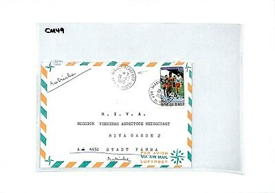 CM49 1980 NIGER Cover Missionary Air Mail MIVA