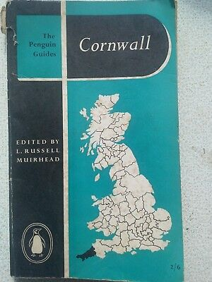 Vintage 1954 Penguin Guide to Cornwall with Road maps and Plymouth street plan
