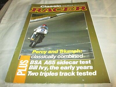 Classic Racer Magazine Spring 1988  Number 21  Percy Tait