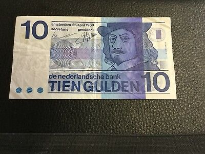 NETHERLANDS 10 gulden Circulated, What You See Is What You Get. Good Condition.