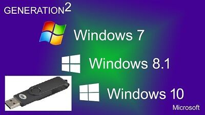 Windows 7,8.1,10 32 & 64 Versions and all editions USB
