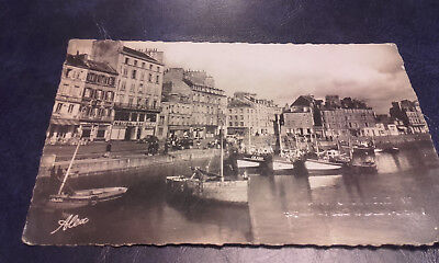 Used 1952 Real Photo Rp Postcard*cherbourg.france*quay/port/harbour/boats