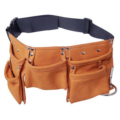 Child Kids Leather Working Tool Belt Pouch with Multi Pockets Dress Up Role Play