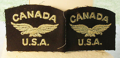 Wwii Pair Usaaf Canada U.s.a. Shoulder Patches