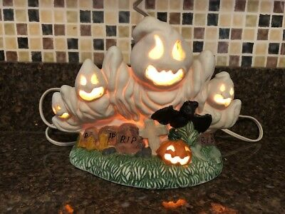 Vintage Porcelain Night Light Ghost Halloween Decor 1 of 5 Woolworht Collection