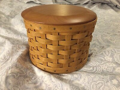 Longaberger 2004 Mothers Day Essentials Basket Combo w Lid   & Mary L. Signature