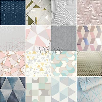 Geometric Wallpaper Home Decor - Various Designs & Colours Available
