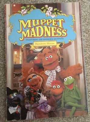 Vintage MUPPET MADNESS Book COMICS Poems PHOTOS Fun GAMES Henson MUPPETS 1980 ed