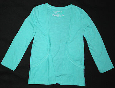 NWT: New Sonoma Ocean Blue Size 4 Open Front Cardigan Long Sleeve Shirt