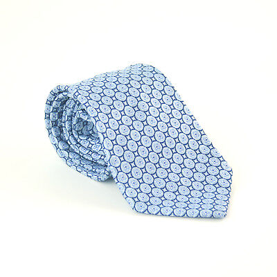 Men's Accessories Cavenagh Of London 100% Silk Mens Blue Geometric Wide Fit Tie Clothes, Shoes & Accessories