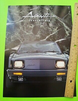 scarce 1989 AVANTI CONVERTIBLE COLOR BROCHURE wow XLNT+