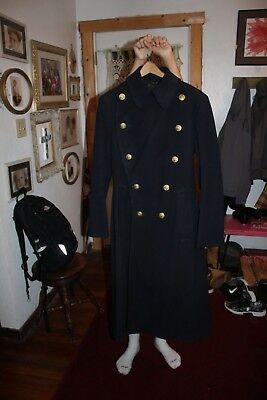 RARE Culver Military Academy WWII P.O.W.'s cadet Wool coat Battle of the Bulge