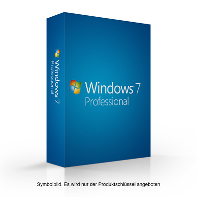 MS Microsoft Windows 7 Professional 32 bit 64-Bit Volumen Online Win 7 Pro