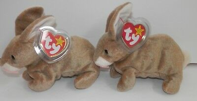 "TY BEANIE BABY 1998  "" NIBBLY"" retired bunny mint tags"