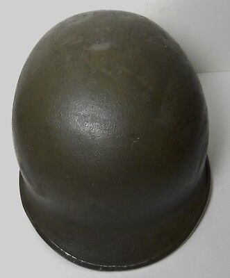 Wwii Us Military Front Seam Fixed Bail Helmet Numbered M1