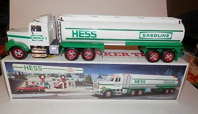 Hess Gasoline Gas Tanker, 1990, in original box, lights and sounds