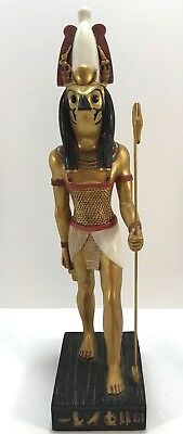 "14.5"" Egyptian Horus Sculpture Ancient Egypt God Statue Pagan Falcon Figure"