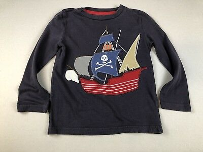 Mini Boden Shirt Applique Pirate Boys Size 2-3 Years LBFO