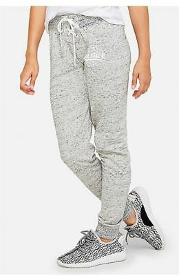 NWT Justice Kids Girls Size 6 12 14 16 18 or 20 Gray Marled Logo Joggers Pants