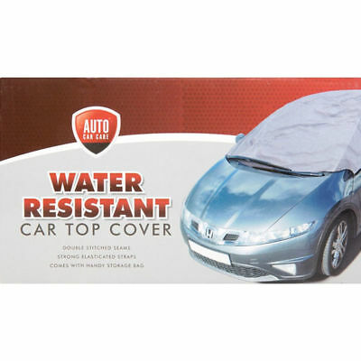 Small  Grey Water Resistant Sun Frost Rain Dust & Dirt Protection Car Top Cover