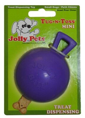 Jolly Pet Tug-n-Toss Mini Interactive Durable Float Bounce Dog Toy Purple 3 inch