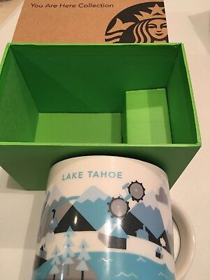 Starbucks you are here mug Lake Tahoe 14 Oz USED Great Condition.